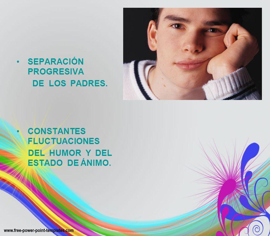 SEPARACIÓN PROGRESIVA DE LOS PADRES. CONSTANTES FLUCTUACIONES DEL HUMOR Y DEL ESTADO DE ÁNIMO.