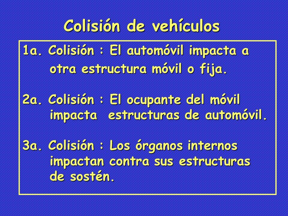 1a.Colisión : El automóvil impacta a otra estructura móvil o fija.