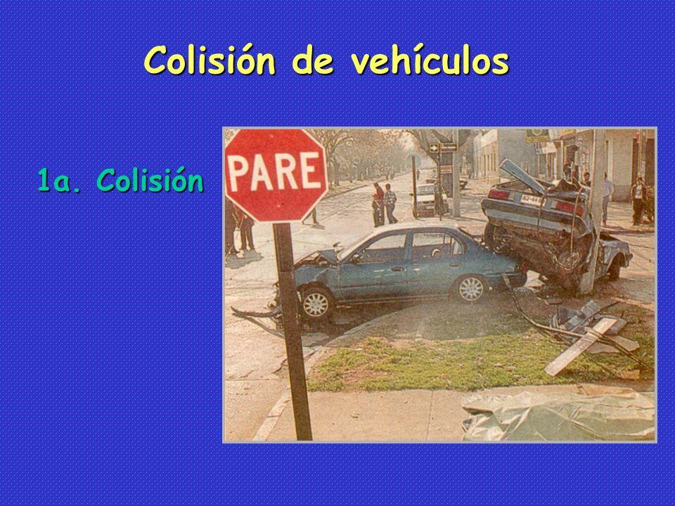 1a. Colisión Colisión de vehículos