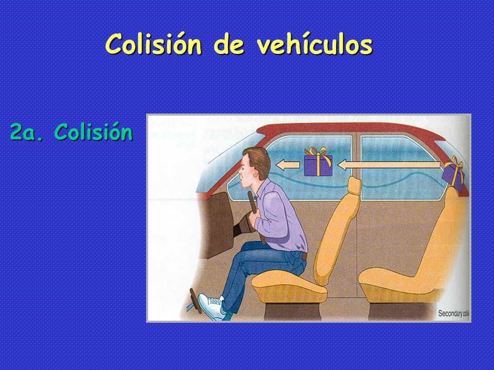 2a. Colisión Colisión de vehículos