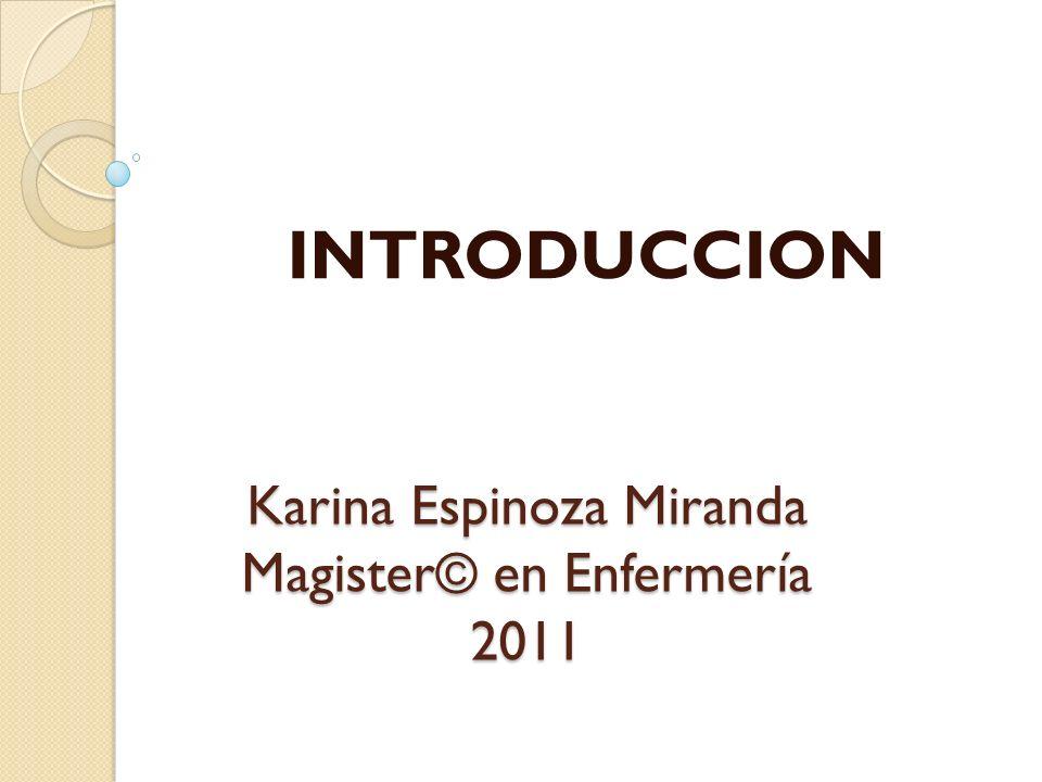 Karina Espinoza Miranda Magister© en Enfermería 2011 INTRODUCCION