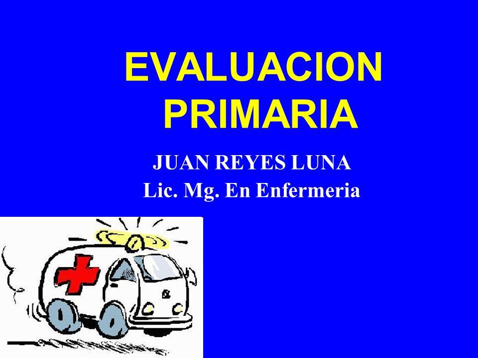 EVALUACION PRIMARIA JUAN REYES LUNA Lic. Mg. En Enfermeria