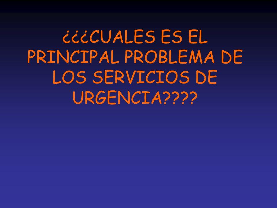 Servicios de Urgencia: l Aumento de la demanda.