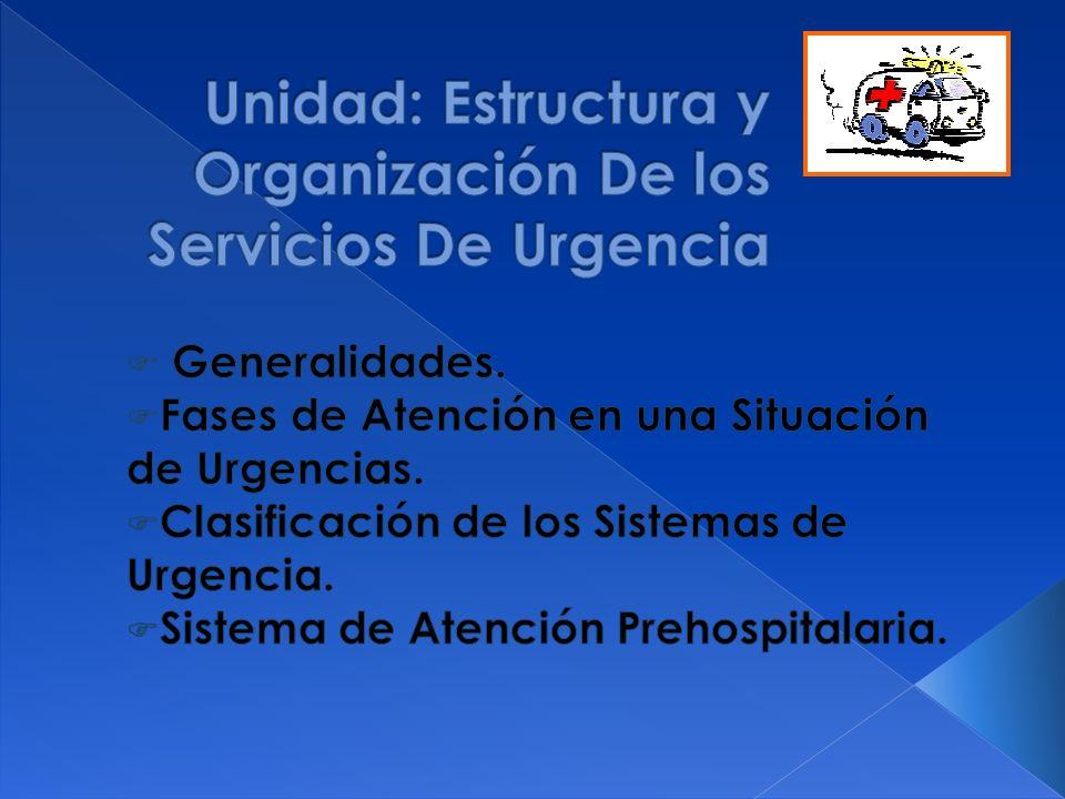 Sistema de Salud: Determinar entre las responsabilidades del personal de salud, la atención integral de las urgencias.