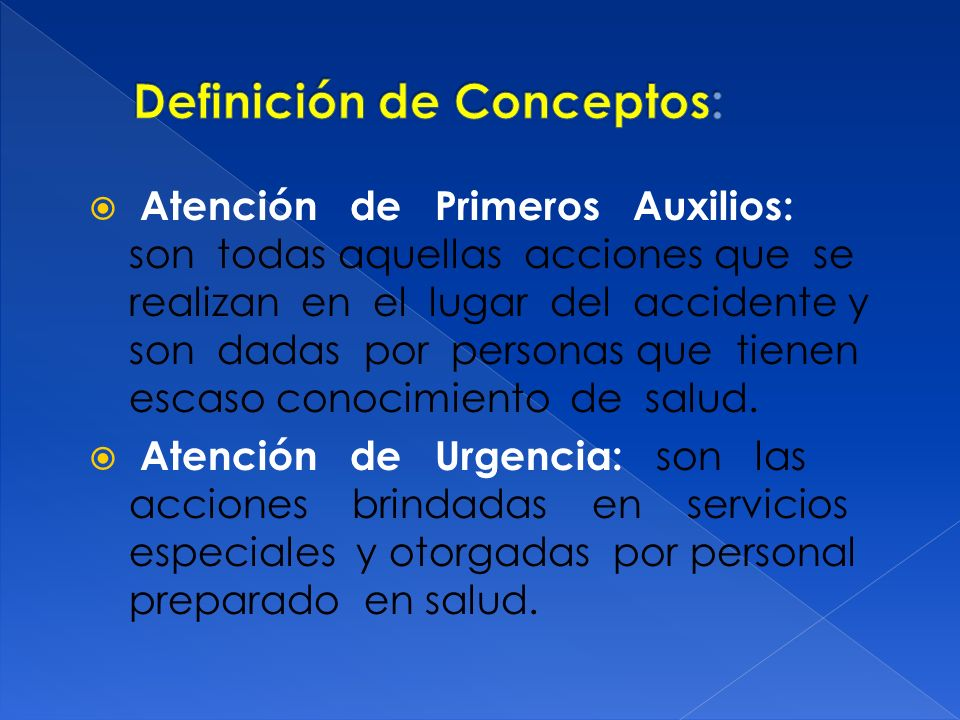 Debe reunir las siguientes condiciones: Personal: Zonas Urbanas: Personal de ambulancias y en seguridad pública.