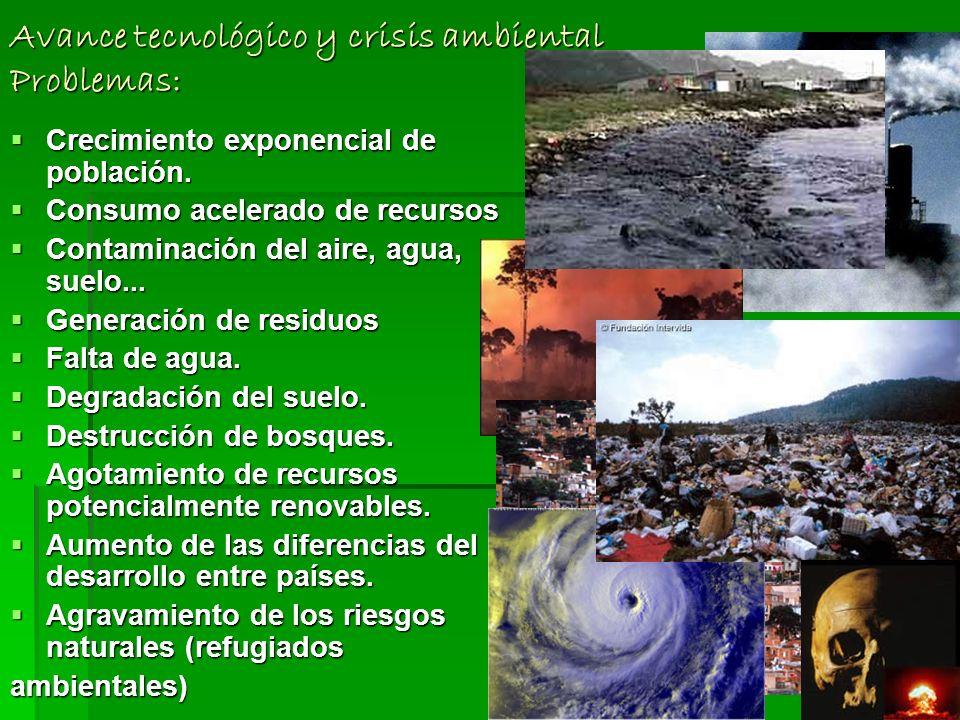 Crisis ambiental. El sistema económico camina al margen del sistema ecológico El sistema económico camina al margen del sistema ecológico Esto genera