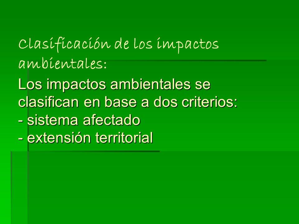 Impacto ambiental : Modificaciones en la composición o en las condiciones del entorno debido a la acción humana, por la cual se transforma su estado n