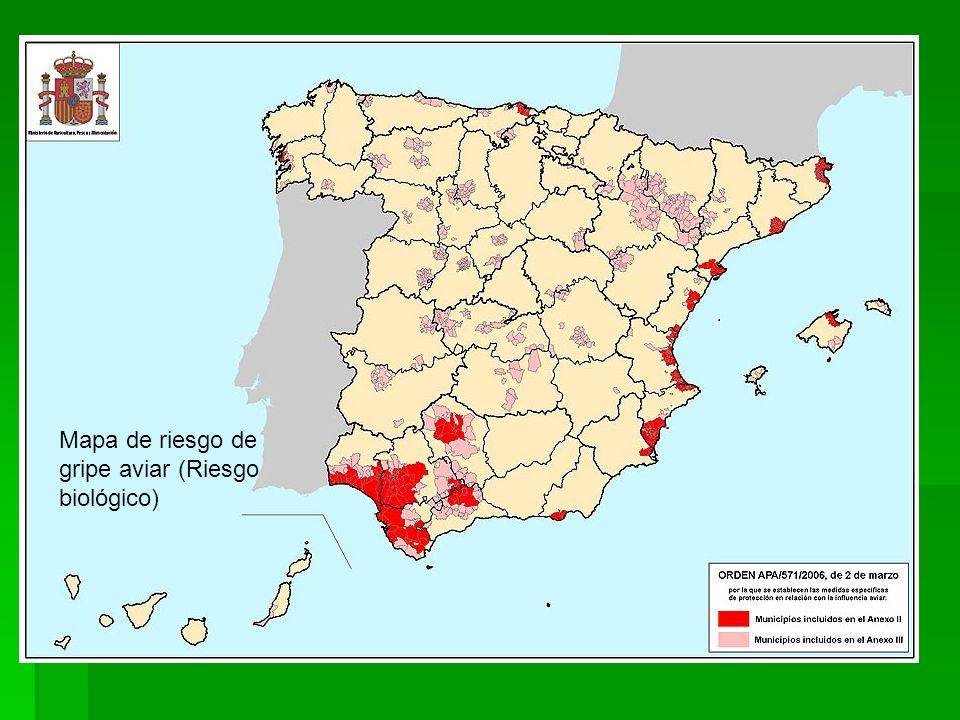 Mapa de riesgo de deslizamiento de lavas