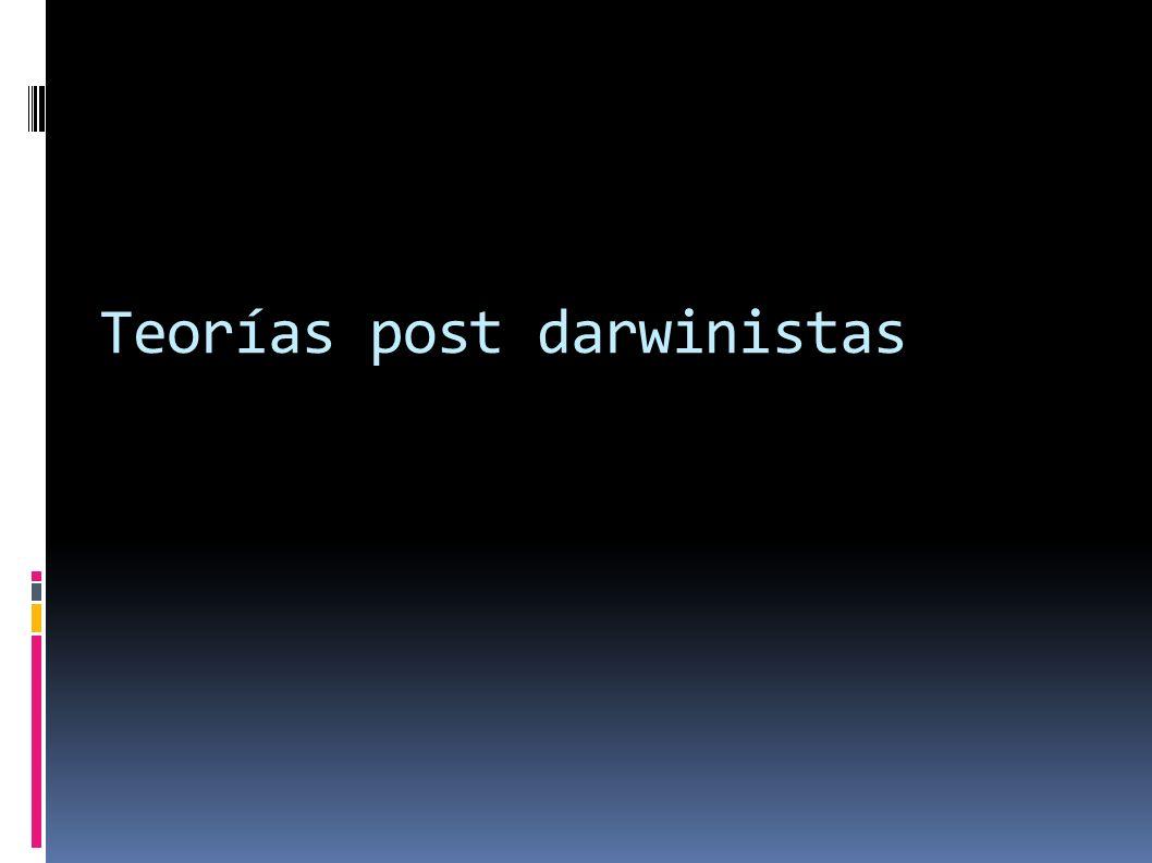 Teorías post darwinistas