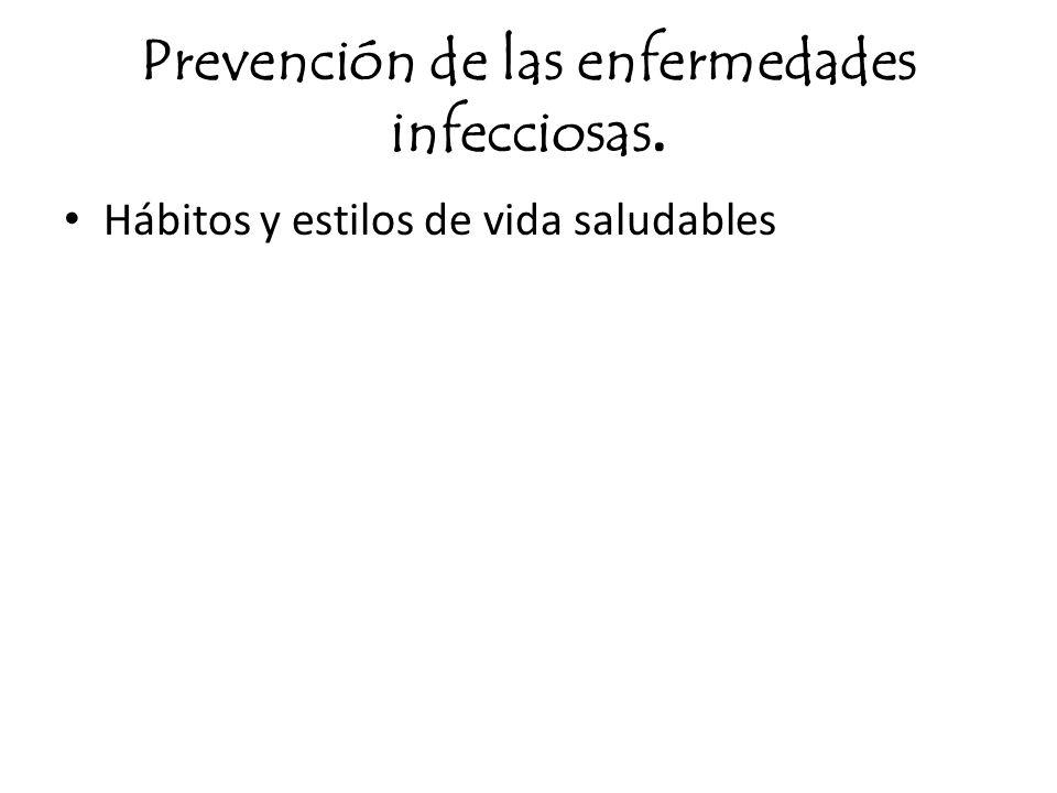 Prevención de las enfermedades infecciosas. Hábitos y estilos de vida saludables