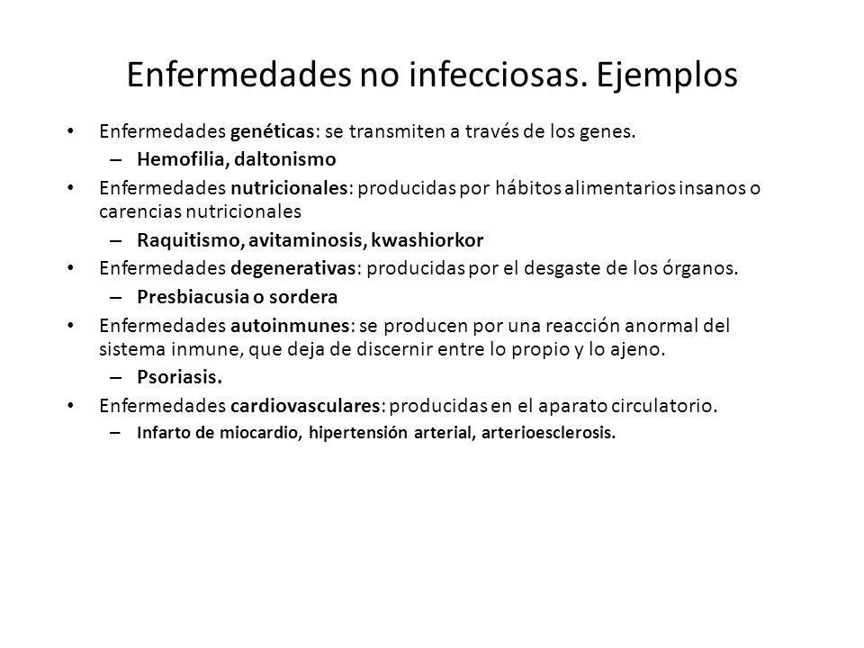 Enfermedades no infecciosas.