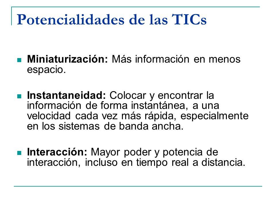 TICs: Audiovisuales con Movimiento Videoconferencia/Aula Virtual Ventajas: Permite transmitir contenidos a una población estudiantil dispersa o concentrada en varias sedes educativas.
