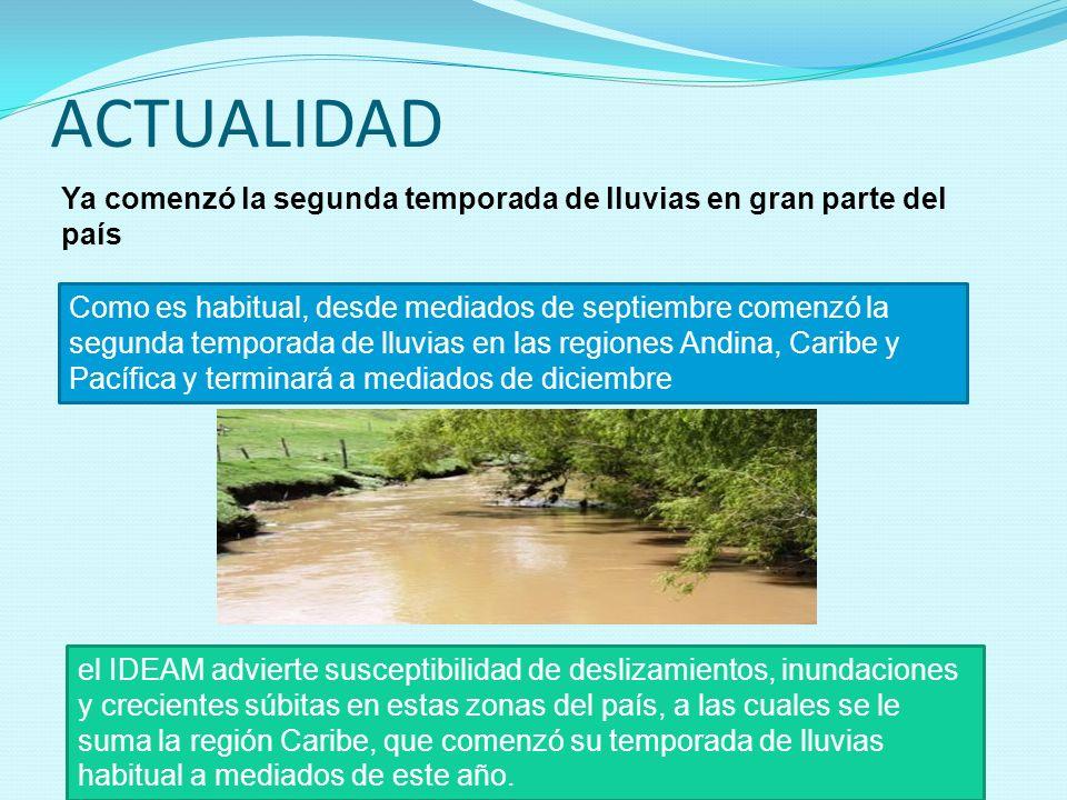 ACTUALIDAD Ya comenzó la segunda temporada de lluvias en gran parte del país Como es habitual, desde mediados de septiembre comenzó la segunda tempora