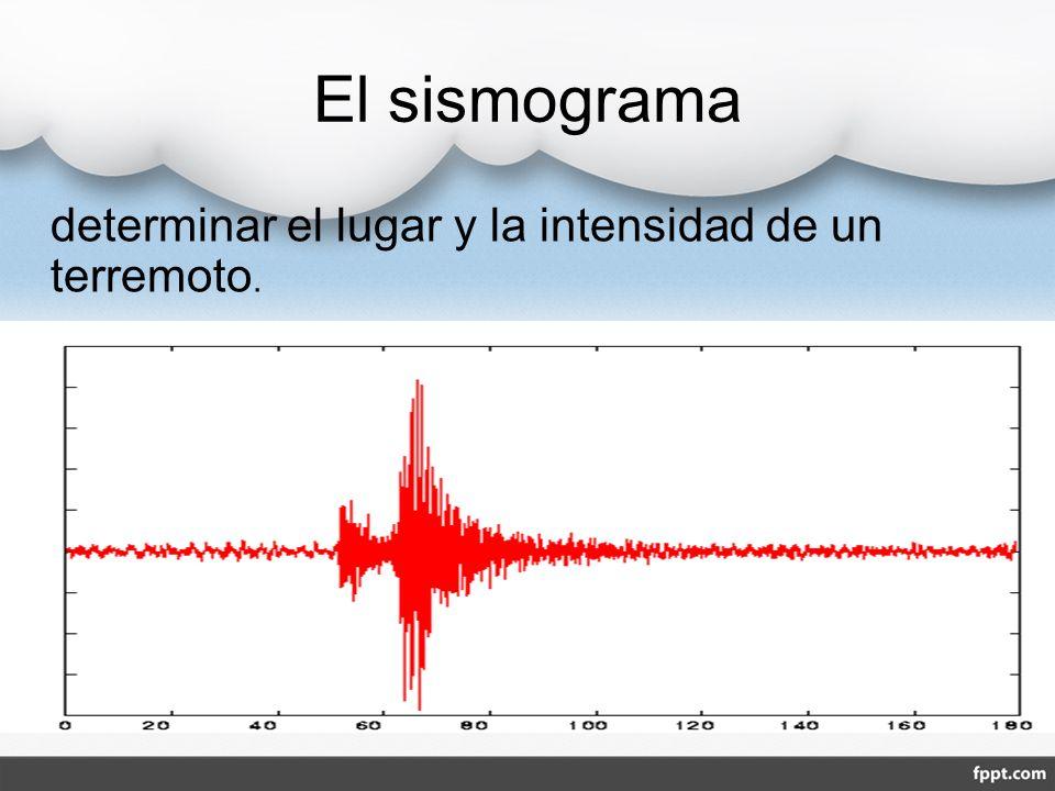 El sismograma determinar el lugar y la intensidad de un terremoto.