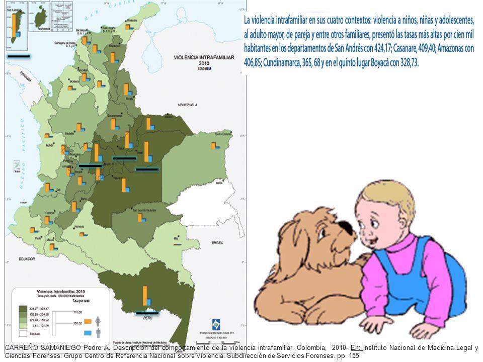 CARREÑO SAMANIEGO Pedro A. Descripción del comportamiento de la violencia intrafamiliar. Colombia, 2010. En: Instituto Nacional de Medicina Legal y Ci