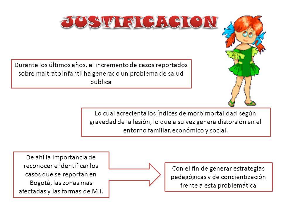 Cuales son las estadísticas de maltrato infantil en la ciudad de Bogotá, en los últimos 5 años?