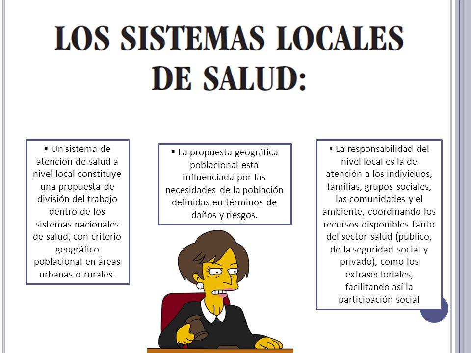 Un sistema de atención de salud a nivel local constituye una propuesta de división del trabajo dentro de los sistemas nacionales de salud, con criteri