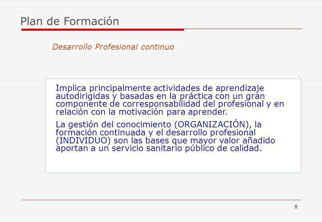 9 Plan de Formación La formación tiene un valor estratégico en la gestión por competencias.