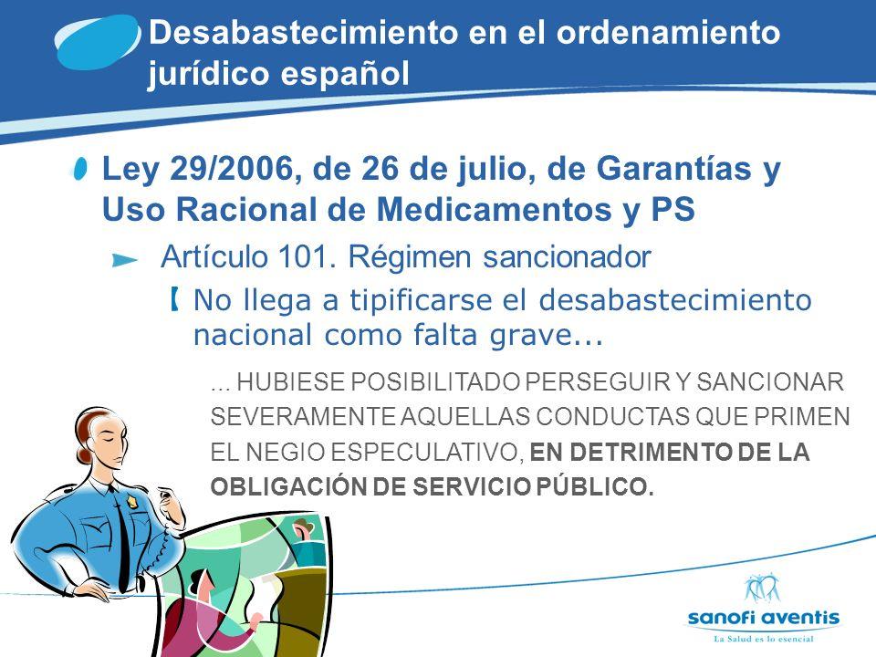 Desabastecimiento en el ordenamiento jurídico español Proyecto de Real Decreto por el que se regula la Trazabilidad de medicamentos de Uso Humano Estándares técnicos Obligaciones y responsabilidades de actuación de los diferentes agentes DISPENSACIÓN FABRICACIÓN DISTRIBUCIÓN