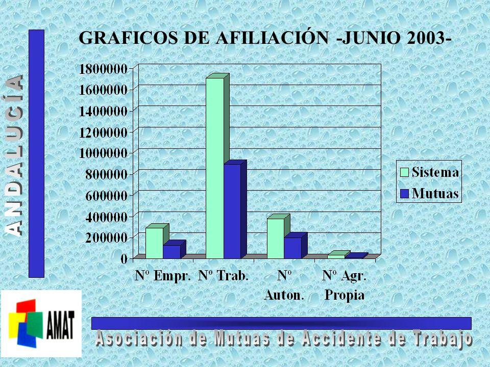 Contingencias Comunes Afiliación C.A. a Junio de 2003 Contingencias Comunes AFILIACIÓN DEL SISTEMA AFILIACIÓN A MUTUAS Nº Empresas: Nº Trabajadores: N