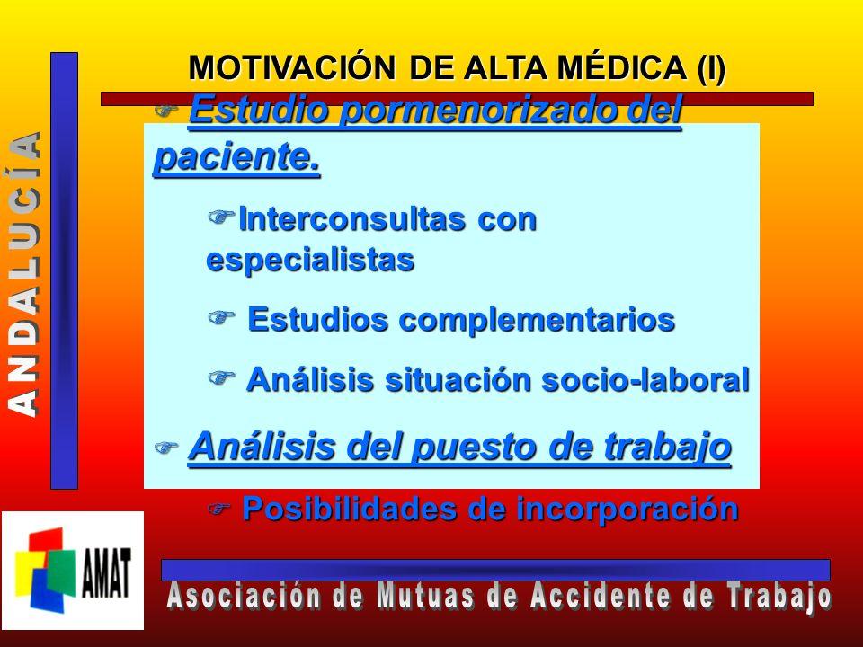 PROPUESTA DE ALTA MÉDICA MOTIVAD A LA MUTUA PODRÁ FORMULAR, A TRAVÉS DE SUS SERVICIOS MÉDICOS, PROPUESTA DE ALTA MÉDICA (ARTÍCULO 5, R.D. 575/1997)
