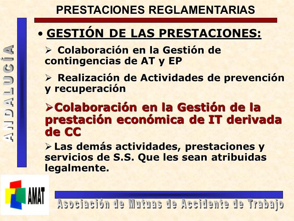 PRESTACIONES QUE SE GENERAN EN LOS PROCESOS DE ITCC PRESTACIONES SANITARIAS PRESTACIONESECONÓMICAS Servicios de Salud de las CC.AA.