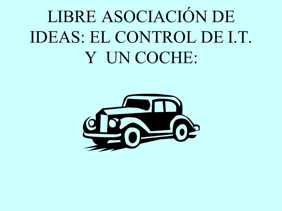 LIBRE ASOCIACIÓN DE IDEAS: EL CONTROL DE I.T. Y UN COCHE:
