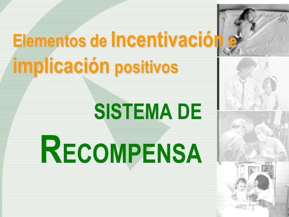 Elementos de Incentivación e implicación positivos SISTEMA DE R ECOMPENSA