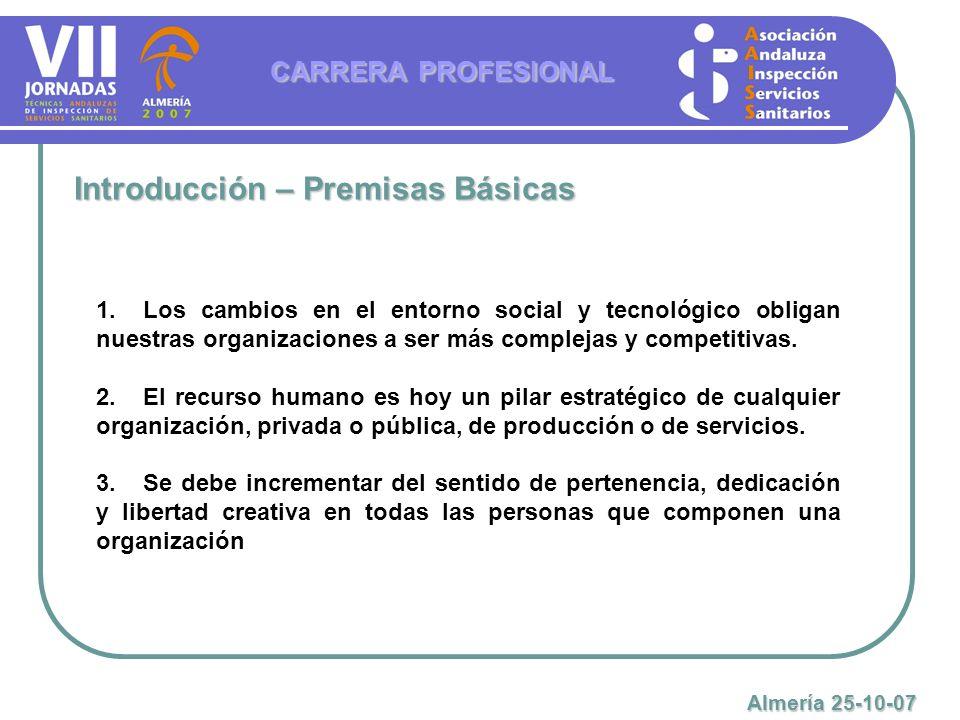 Características Generales del Sistema previsto en la LEY 7/2007, de 12 de abril, del Estatuto Básico del Empleado Público CARRERA PROFESIONAL Almería 25-10-07 1.Prevé un sistema de grados, categorías o escalones de ascenso con asignación de una remuneración progresiva a cada uno de ellos.