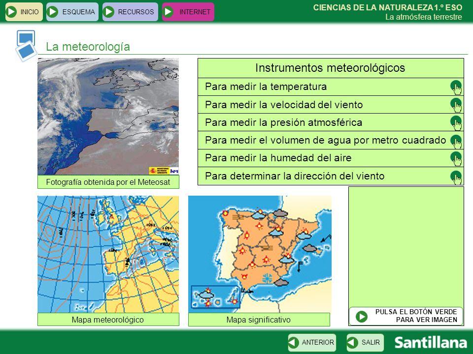 CIENCIAS DE LA NATURALEZA 1.º ESO La atmósfera terrestre INICIOESQUEMARECURSOSINTERNET El impacto de las actividades humanas SALIRANTERIOR Dióxido de carbono Efecto invernadero Cambio climático Huracán Emily Óxidos de azufre y nitrógeno Lluvia ácida Gases CFCReducción capa de ozono HollínAumento de suciedad Contaminación