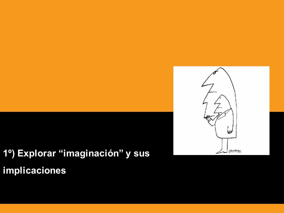 1º) Explorar imaginación y sus implicaciones