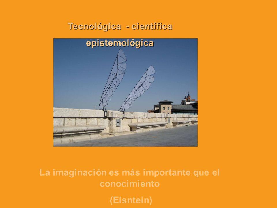Tecnológica - científica epistemológica La imaginación es más importante que el conocimiento (Eisntein)