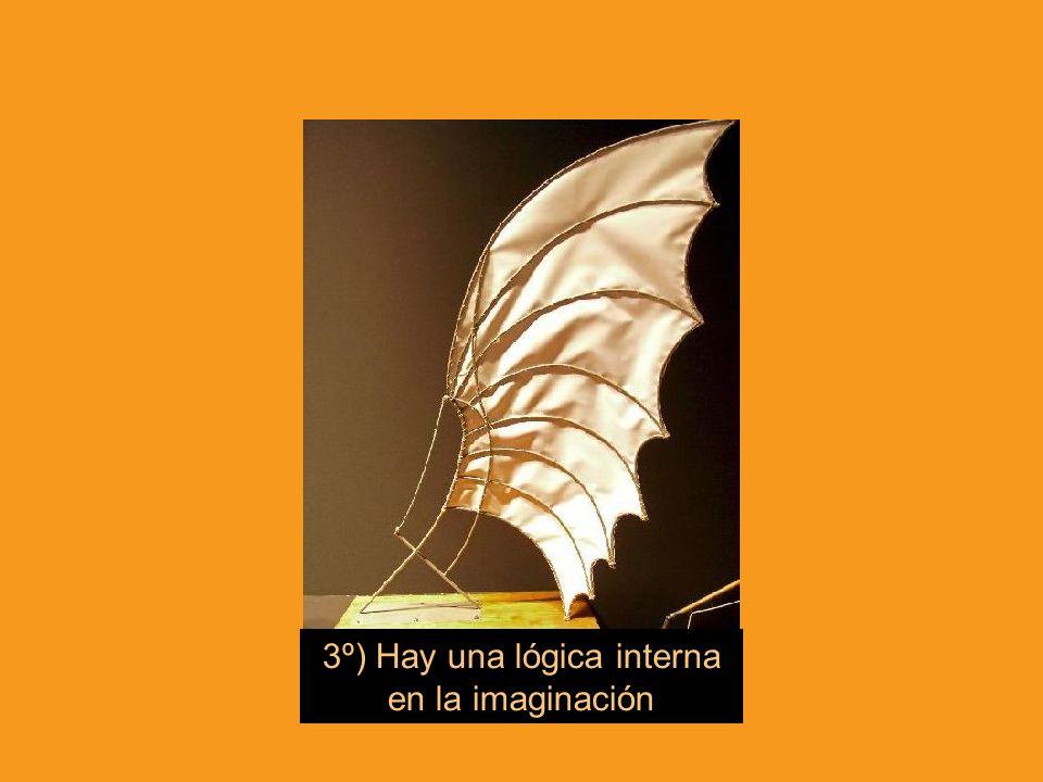 3º) Hay una lógica interna en la imaginación
