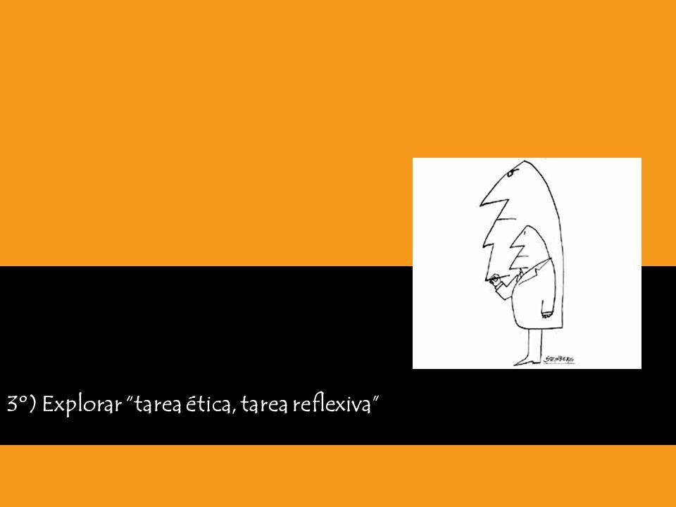 3º) Explorar tarea ética, tarea reflexiva