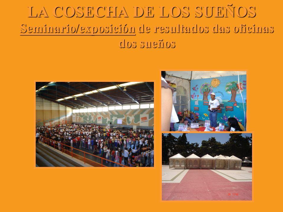 LA COSECHA DE LOS SUEÑOS Seminario/exposición de resultados das oficinas dos sueños