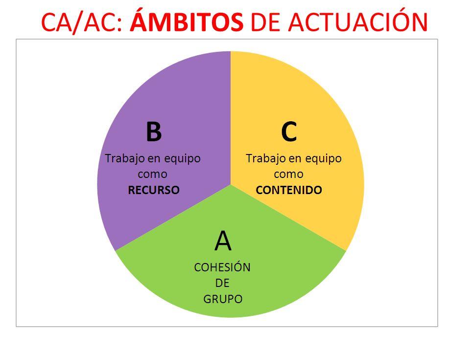 CA/AC: ÁMBITOS DE ACTUACIÓN