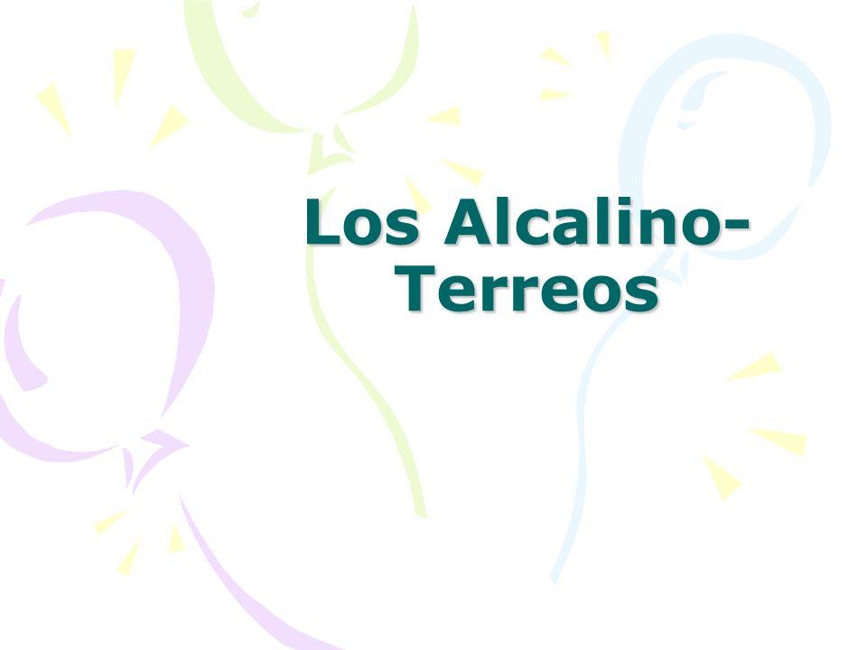 Los Alcalino- Terreos
