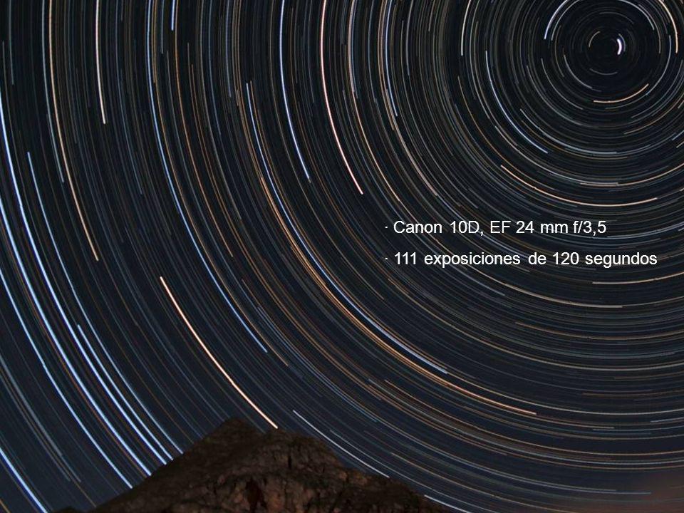· Canon 10D, EF 24 mm f/3,5 · 111 exposiciones de 120 segundos