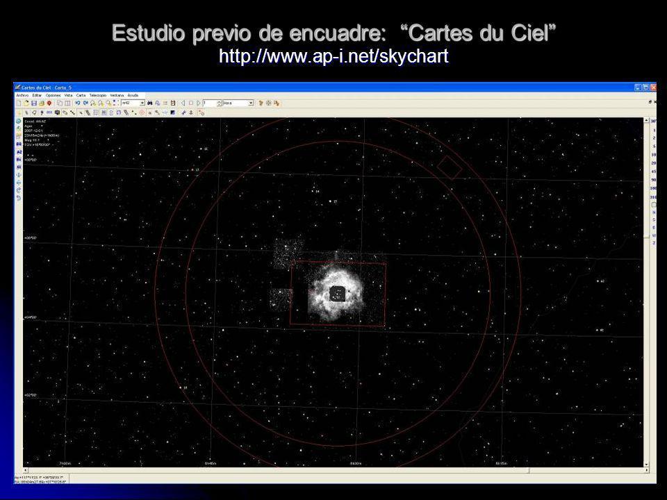 Estudio previo de encuadre: Cartes du Ciel http://www.ap-i.net/skychart