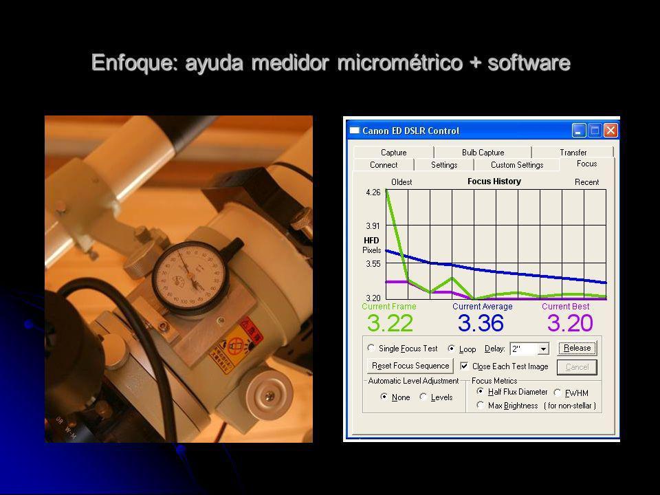 Enfoque: ayuda medidor micrométrico + software