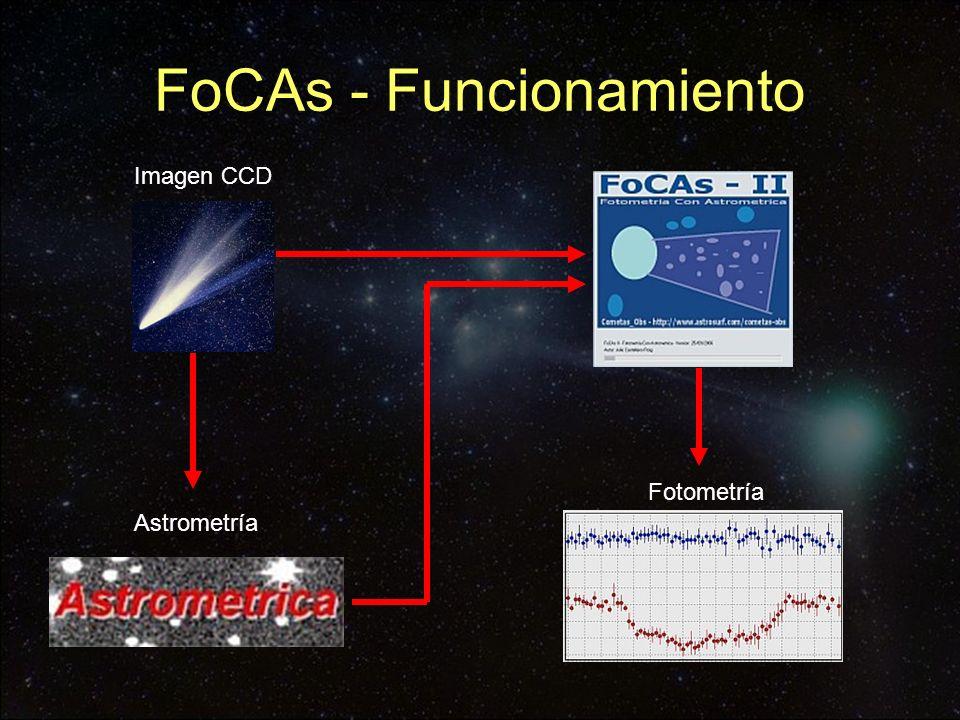 FoCAs - Funcionamiento Imagen CCD Astrometría Fotometría