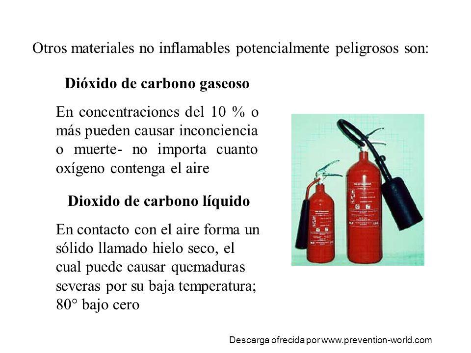 El oxigeno Puede acelerar la ignición de otros materiales.