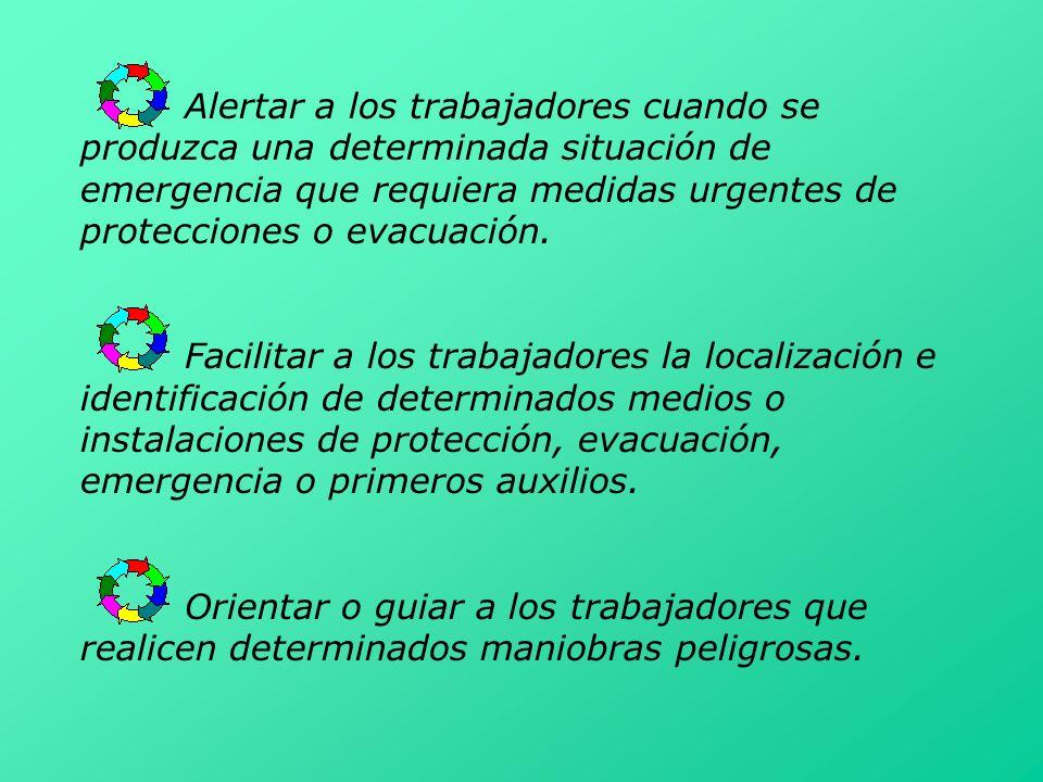 Alertar a los trabajadores cuando se produzca una determinada situación de emergencia que requiera medidas urgentes de protecciones o evacuación. Faci