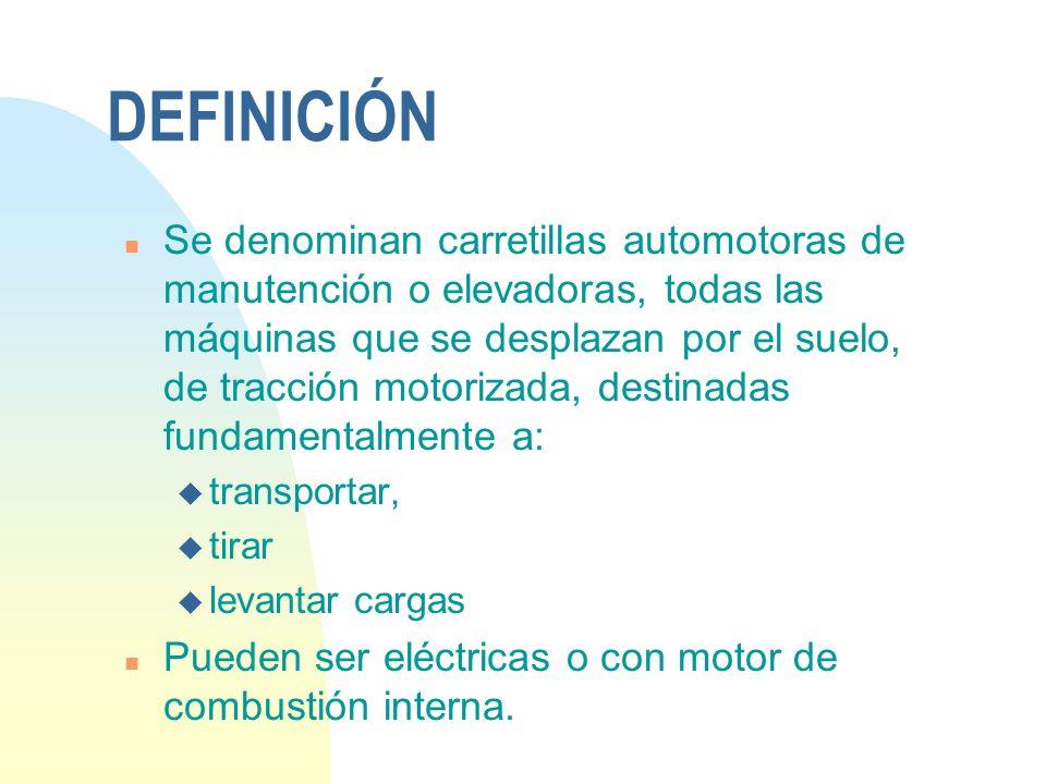 NTP 214: CARRETILLAS n INTRODUCCIÓN: DEFINICIÓN n COMPONENTES n EL CONDUCTOR n NORMAS DE MANEJO n RIESGOS MÁS FRECUENTES Y MEDIDAS PREVENTIVAS n EPIS