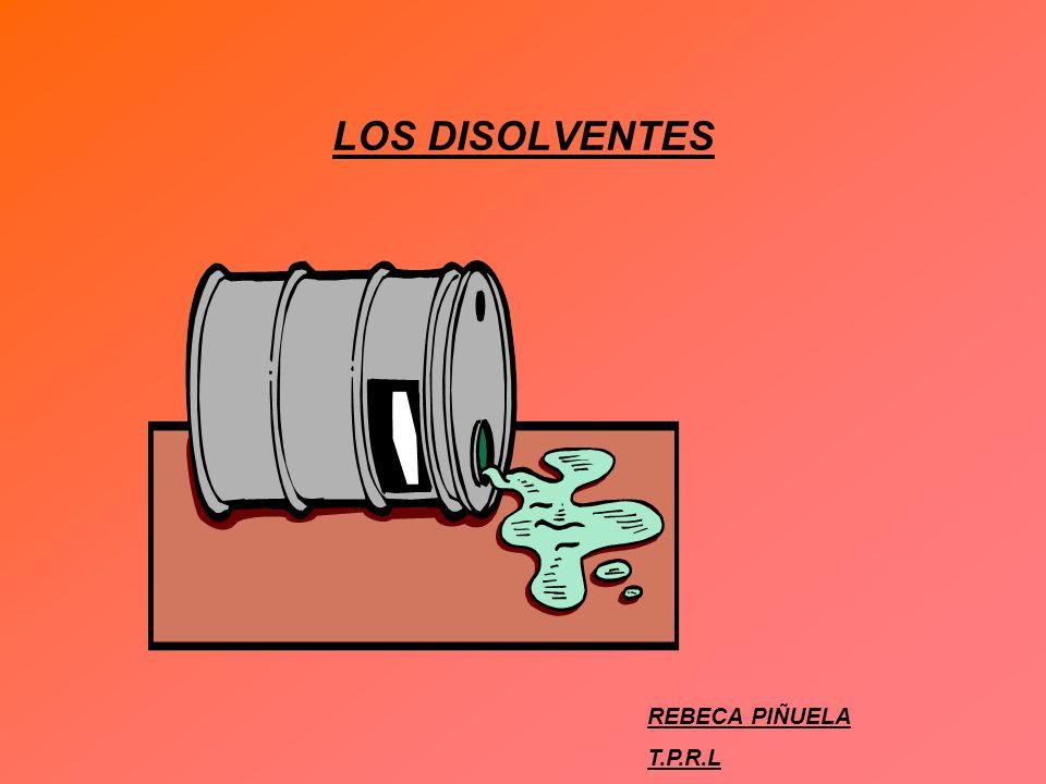 LOS DISOLVENTES REBECA PIÑUELA T.P.R.L