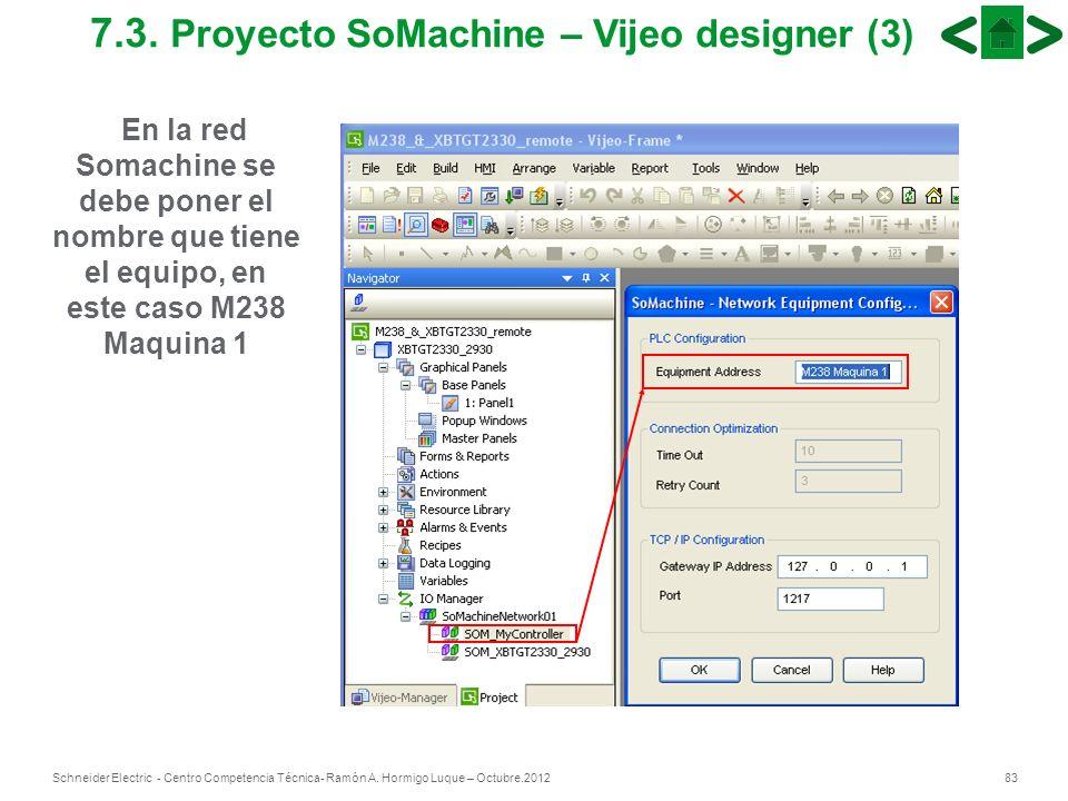 83Schneider Electric - Centro Competencia Técnica- Ramón A. Hormigo Luque – Octubre.2012 7.3. Proyecto SoMachine – Vijeo designer (3) En la red Somach