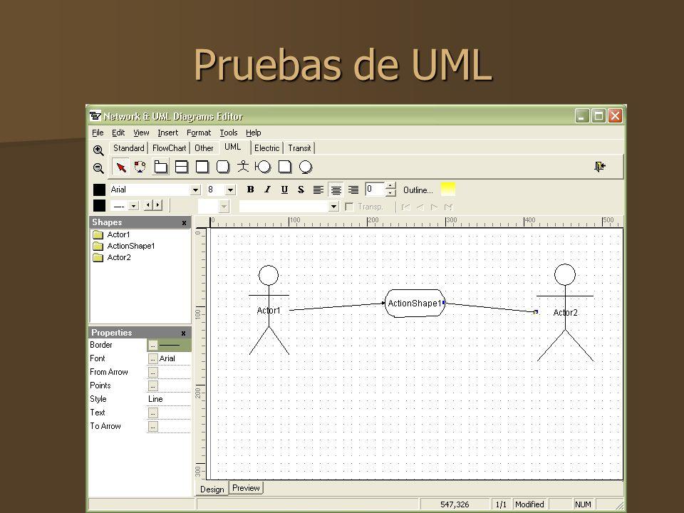 Pruebas de UML