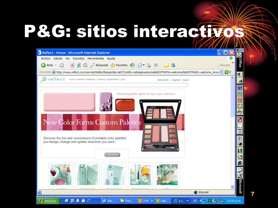 Diseño y programación web para comercio electrónico Dr. Francisco J. Mata 7 P&G: sitios interactivos