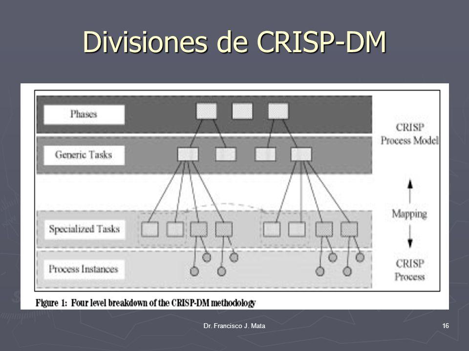 Dr. Francisco J. Mata16 Divisiones de CRISP-DM