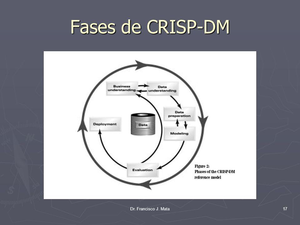 Dr. Francisco J. Mata17 Fases de CRISP-DM